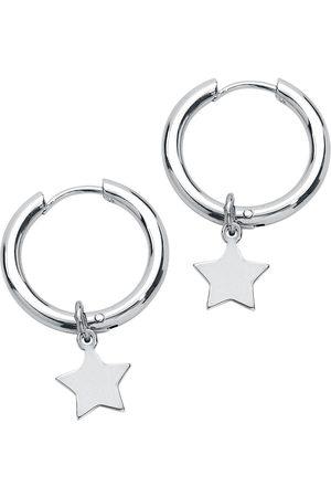 etNox Damen Ohrringe - Creole Stern Ohrring silberfarben