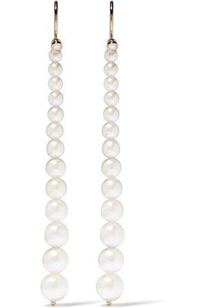 Mizuki 14kt Gelbgoldohrringe mit Perlen
