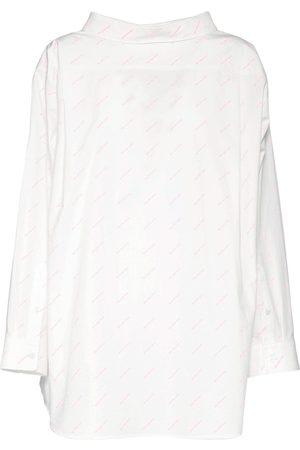 Balenciaga Hemd Aus Baumwollpopeline Mit Logo