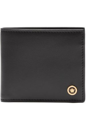 VERSACE Medusa-studded Leather Bi-fold Wallet