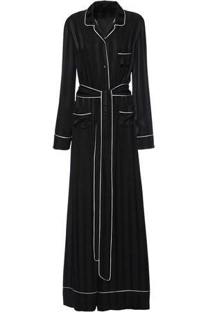 Dolce & Gabbana Jumpsuit Aus Seidensatin Mit Jacquardstreifen