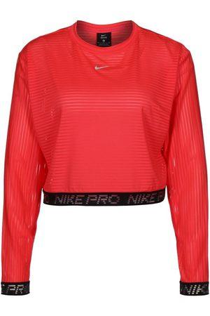 Nike Longsleeve »Pro Crop Mesh«