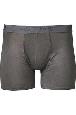 Bresciani Cotton Boxer Trunk Grey