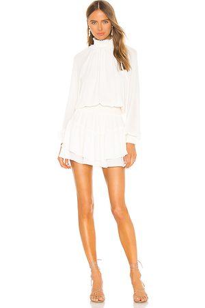krisa Smocked Turtleneck Dress in . Size M, XS.