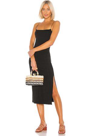 ENZA COSTA Slip-Kleid mit schmalen Trägern und Seitenschlitz in . Size XS, S, M.