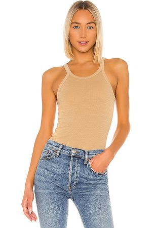 RE/DONE Geriffeltes Tank-Top in . Size S, XS.
