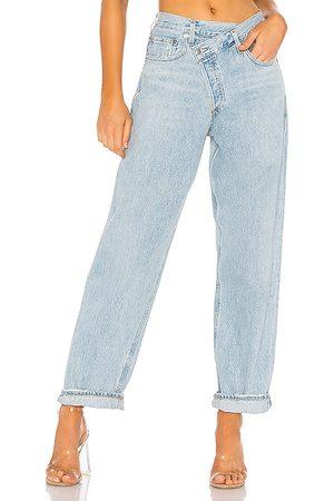 AGOLDE Jeans mit gekreuztem Hosenlatz, weiter Schnitt in . Size 24, 25, 26, 27, 28, 29, 30, 31, 32.