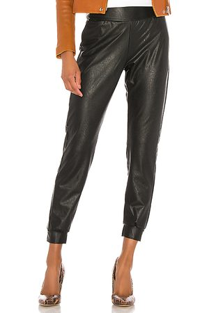 Commando Faux Leather Jogger in . Size S.