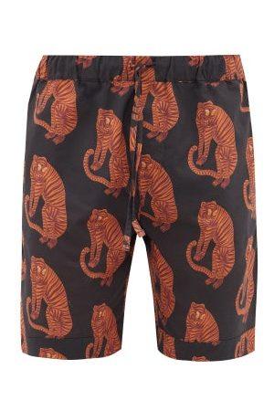 Desmond & Dempsey Tiger Printed Pyjama Shorts