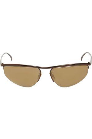 """Bottega Veneta Ovale Sonnenbrille Aus Metall """"bv1091s"""""""