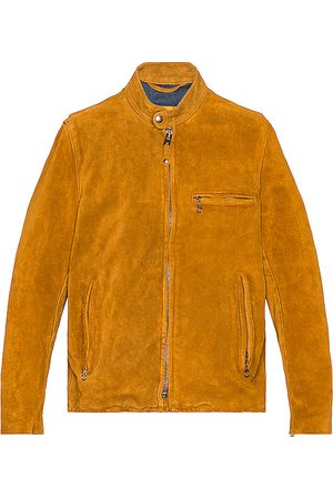 Schott NYC Hand Vintaged Split Cowhide Cafe Racer Jacket in . Size S, XL.