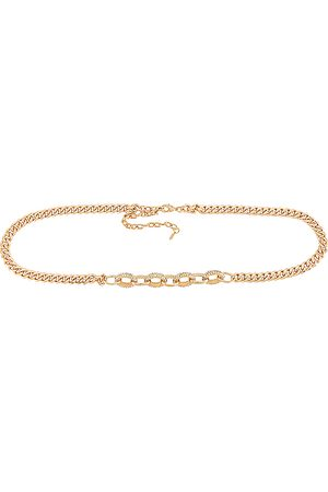 Ettika Crystal Stud Chain Belt in .