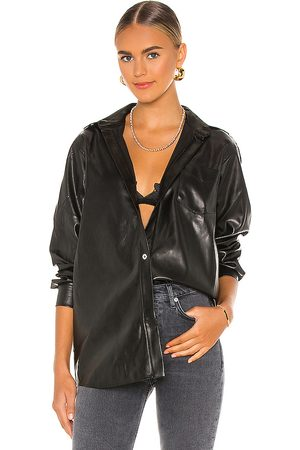 WeWoreWhat Boyfriend Vegan Leather Shirt in . Size XL.