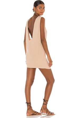 Indah Pella Plunge Mini Dress in . Size XS, S, M.