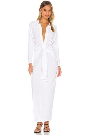 Norma Kamali Tie Front NK Shirt Dress in . Size XXS, XS, S, M, XL.