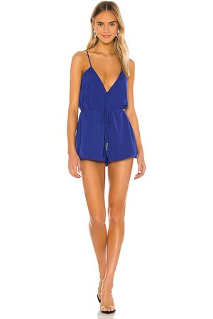 superdown Austin Deep V Romper in . Size XXS, XS, S, M, XL.