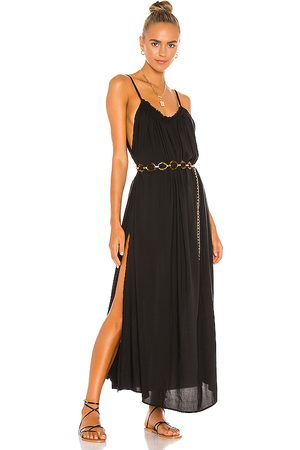 Indah Damen Maxikleider - Yasmine Solid Gathered Neckline Sundress Maxi in . Size S, XS, M.