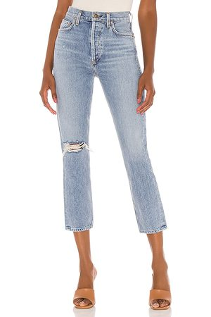 AGOLDE Riley hohe Straight Crop Jeans in . Size 25, 26, 27, 28, 29, 30, 31.