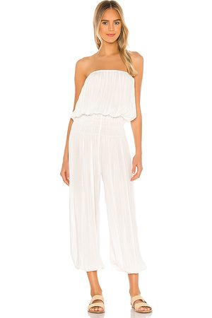 Indah Seychelle Strapless Pleated Jumpsuit in . Size XS/S, S/M.