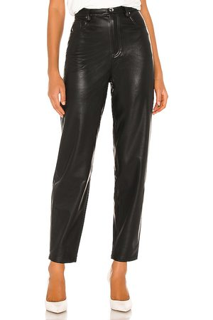 WeWoreWhat Damen Leder & Lederimitathosen - Dani Vegan Leather Boyfriend Pant in . Size 25, 26, 29.