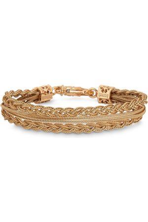 EMANUELE BICOCCHI Gold plated double braided bracelet