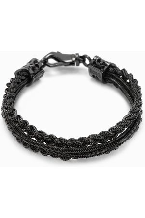 EMANUELE BICOCCHI Braided bracelet with carabiner