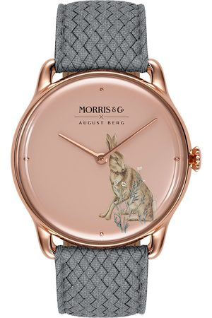 August Berg Uhr MORRIS & CO 'Rose Gold Grey Perlon 38mm