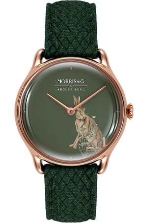 August Berg Uhr MORRIS & CO 'Rose Gold Green Perlon 30mm