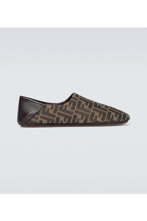 Fendi Slippers FF aus Canvas