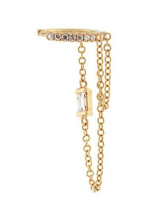 Maria Tash Diamond & 18kt Chain-drop Single Earring