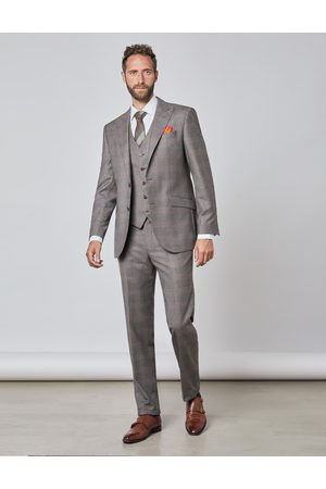 Hawes & Curtis Anzüge - Herren Anzug | 1913 Kollektion 130S Wolle Tailored Fit Prince Of Wales Karo