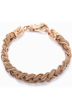 EMANUELE BICOCCHI Gold plated woven bracelet