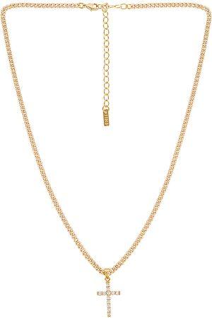 Natalie B Jewelry Korsa Cross Necklace in .