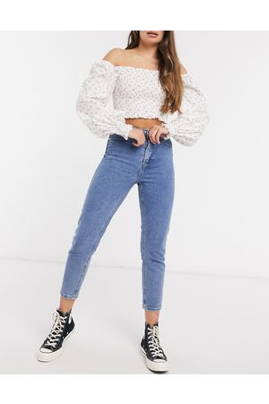 In The Style X Jac Jossa – Mom-Jeans in Mittelblau