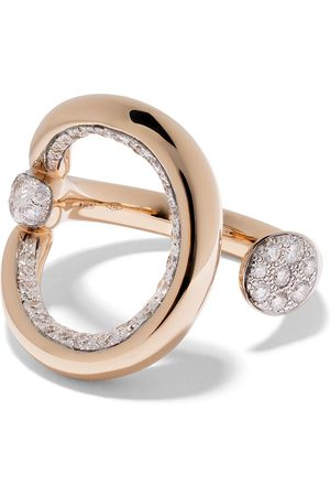 Pomellato 18kt Rotgoldring mit Diamanten