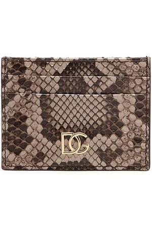 Dolce & Gabbana Kartenetui aus Schlangenleder