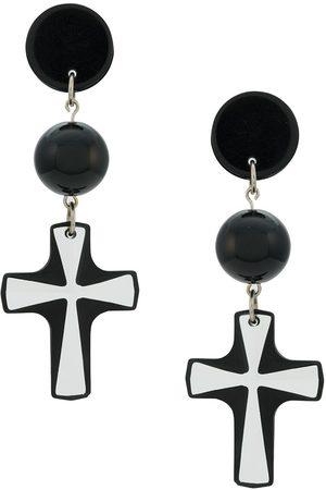 AMIR SLAMA Ohrringe mit Kreuzanhänger
