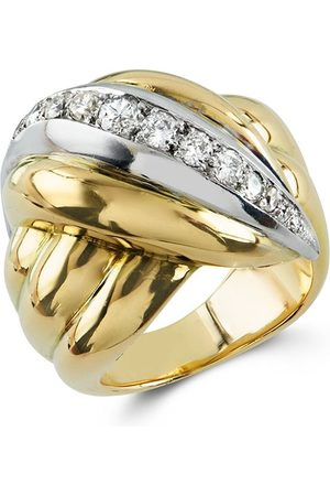 Van cleef Damen 1941-1960 18kt Gelb- und Weißgoldring mit einem Diamanten