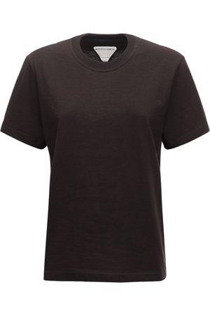 Bottega Veneta Damen T-Shirts, Polos & Longsleeves - Leichtes T-shirt Aus Baumwolle