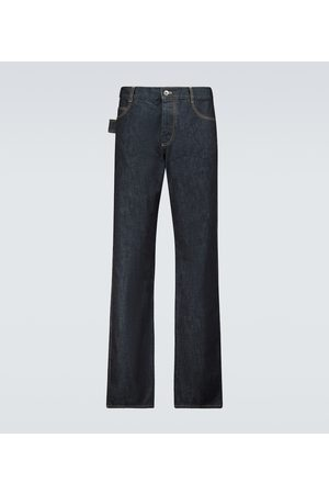 Bottega Veneta Straight Jeans aus Raw Denim