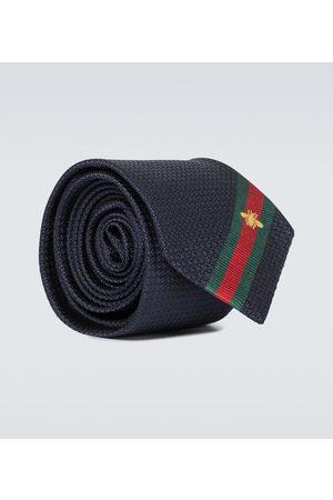 Gucci Herren Krawatten - Krawatte aus Seide mit Webstreifen