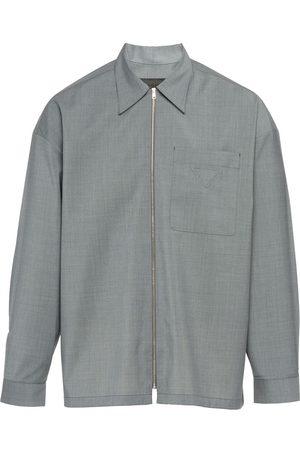 Prada Hemdjacke mit Reißverschluss