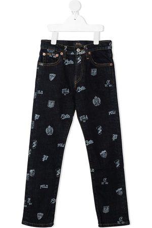Ralph Lauren Jungen Slim - Schmale Hose mit grafischem Print