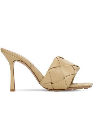 Bottega Veneta 90mm Hohe Sandalen Aus Gewebtem Leder