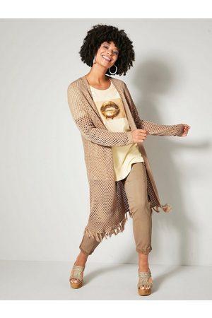 Angel of Style Damen Cargohosen - Cargohose mit elastischem Saum