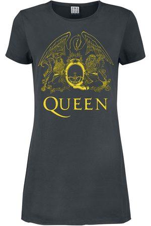 Queen Amplified Collection - Yellow Crest Kurzes Kleid charcoal