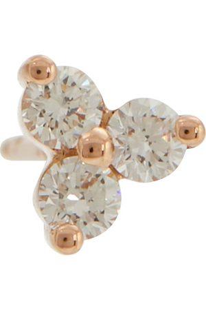 Maria Tash Einzelner Ohrring Trinity Large aus 14kt Roségold mit Diamanten