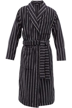 Tekla Striped Organic-cotton Terry Bathrobe
