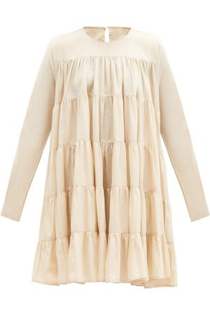 Merlette Soliman Tiered Cotton-voile Dress
