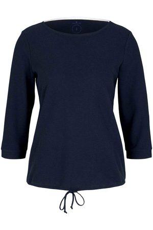 TOM TAILOR Damen Strukturiertes Shirt mit Tunnelzug, , Gr.XXL